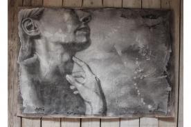 <p><b>Titel:</b> In gedachte • <b>Kunstenares:</b> Monique Meij   •   <b>Maten:</b> 158 x 110 cm (bxh)</p>